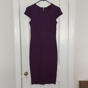 Felicity & Coco Ward seamed pencil dress purple 2